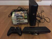 Xbox 360 + connect + 9 games + remote