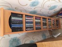 cd collection plus tall wooden cabinet