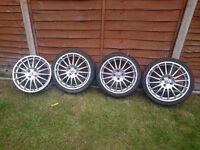 4 x 17 inch DJ Racing Alloys PCD 4 x 100