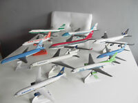 Ten airplane models, (commercial airlines)