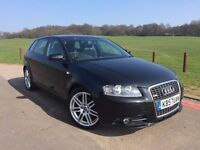2007 Audi A3 1.8 TFSI S Line Sportback S Tronic 5dr, ONLY 38000 MILES, AUTO