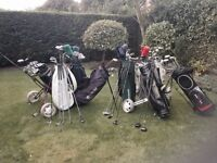 Golf clubs - Job Lot of clubs includes well over 100 clubs, 8 bags, 2 trolley's, over 50 balls etc