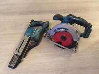 MAKITA 18v Drywall gun and skillsaw.