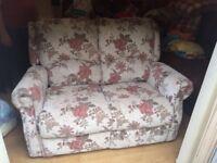 Double manual recliner sofa