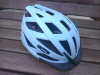 Cycling safety helmet, black and white size small 52_57cm