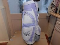 BRAND-NEW, LYNX, CART / CARRY BAG. WHITE / LAVENDER in colour