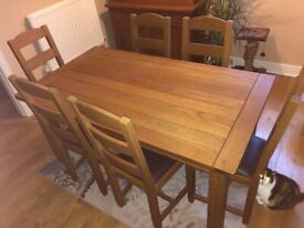 M&S Dining table & 6 chairs