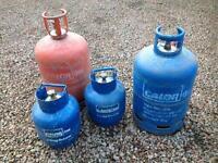 Empty Calor gas bottles. Butane/Propane.