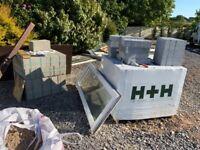 breeze blocks 155 new, unused,surplus to requirements