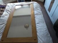 Lovely Large Oak Furniture Land Solid wood Mirror in excellent condition