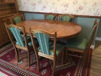 Ducal Pine Victoria Pedestal Dining or Kitchen Table with 6 matching chairs