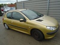 BREAKING ---- Peugeot 206 1.1L Petrol -----Gold