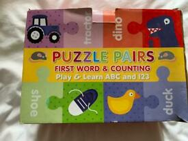 Puzzle Pairs - words/numbers/picture matching game