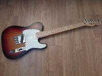 Fender Telecaster Highway One Nitrocellulose Sunburst 2007 Gig Bag