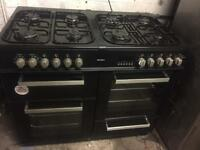 Bush black range cooker 100cm