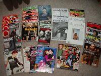 Various music magazines, 1999 onwards: NME, Kerrang, Melody Maker, Select, Q... plus F1 Racing mags