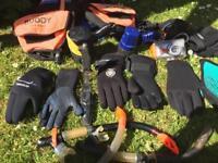 Diving Gear ;Stab vest , Masks, Gloves, etc etc