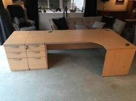 Office Desk and Drawers excellent condition - from smoke free home and could be delivered