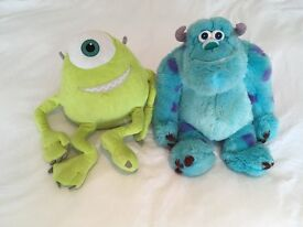 Disney store Monsters inc sully & Mike soft toys