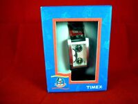"""TIMEX DISNEY MICKEY MOUSE WORLD DUAL TIME ZONE """"HERE THERE"""" TANK WATCH WORKING & BOXED"""