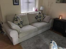 Large Settee, snuggle chair, occasional chair and footstool