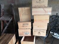 used wooden wine boxes