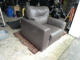Leather armchair brown leather excellent condition