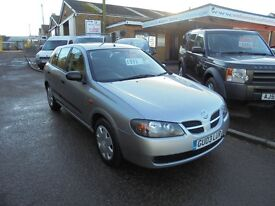 2003 03 nissan almera 1.5 s 5 door, 12 months mot. 30 + cars in stock