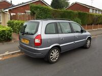 Vauxhall Zafira, 2004, Silver, 2.0dti Diesel, 7 SEATER, 97k Low Miles, Service History, Tax and Mot