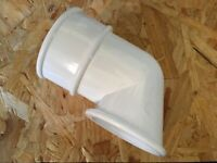 Floplast 68mm White Down-pipe Shoe New