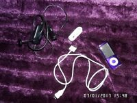 Ipod, purple, good condition plus accessories