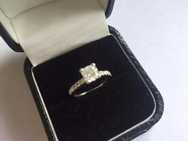 Stunning Bespoke 1.01ct Cushion Cut ( Rare) Diamond Ring Immaculate Condition