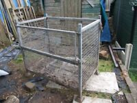 Galvanised Compost bin sturdy rust free with gate