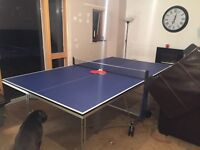 9ft by 5ft ping pong table