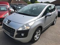 2010/10 PEUGEOT 3008 1.6 HDI FAP SPORT,SILVER,5 DOOR,EXCELLENT CONDITION,GREAT ECONOMY,DRIVES WELL