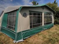 ISABELLA CAPRI LUX GREEN AWNING 925cm SIZE WITH ZIP OUT SIDES