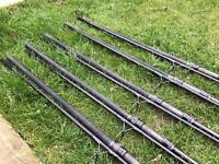 5 x Daiwa infinity DF carp rods