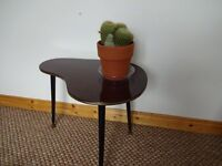 Vintage 1950's/60's Atomic 'Kidney' Shaped Side Table