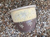 Brown and cream Ceramic garden planter pots