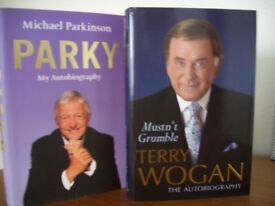 Books Autobiographies Terry Wogan and Michael Parkinson – Great Christmas Presents.
