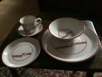 3 seating dinner service with extras