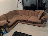 CSL Sociology Leyton Daley large corner sofa + swivel cuddle chair brown chocolate colour bargain!