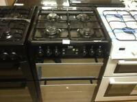 Black 600 wide gas cooker