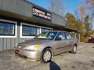 2002 Honda CIVIC LOW KMS! CERTIFIED ETESTED  $1999+taxes