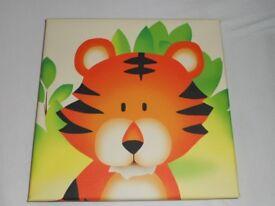 CANVAS PICTURES OF SAFARI ANIMAL TIGER