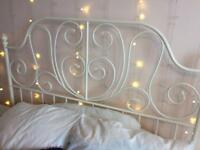 Ikea white metal double bed frame