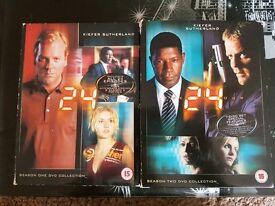 24 seasons 1 & 2 dvd box sets
