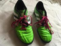 Adidas mens football trainers size 10 used one time ex condition £10