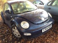 2001 Volkswagen Beetle 2.0 Auto blue AQY FDG LG5T BREAKING FOR SPARES