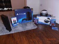 PLAYSTATION 4 PRO BUNDLE- PS4 VR-2XGAMES-MOTION CONTROLLERS